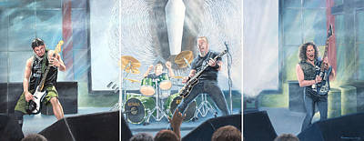 Heavy Metal Painting - Metallica Panorama IIi by Steven Assmann