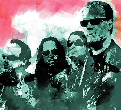 Def Leppard Mixed Media - Metallica Red Sky  by Enki Art