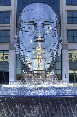 Sculpure Photograph - Metalmorphosis Statue Metal Sculpture Fountain by Dustin K Ryan