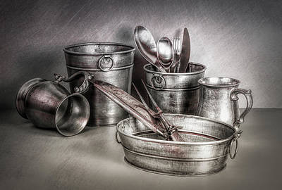 Bucket Photograph - Metalware Still Life by Tom Mc Nemar