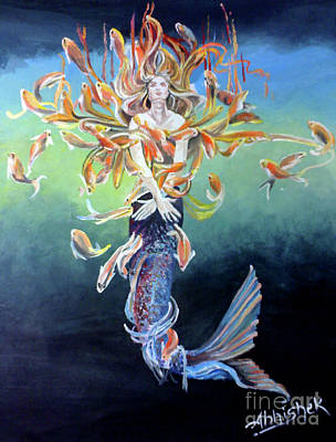 Metamophism ... Jalpari Art Print by Abhishek Chauhan