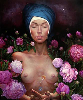 Meditation Painting - Metamorfoza by Graszka Paulska