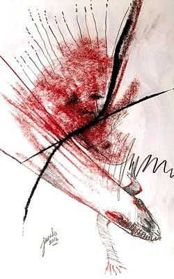 Drawing - Metamorphic Tears by Jacabo Navarro