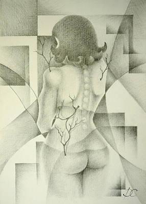Abstract Shapes Drawing - Metamorphosis by Dagmara Czarnota