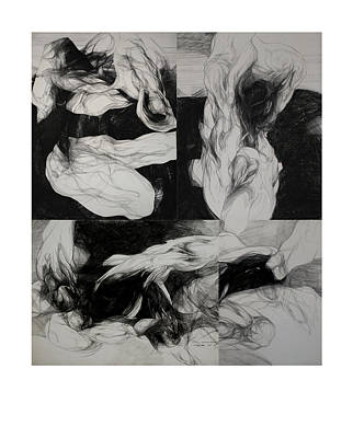 Abstracted Figuration Drawing - Metamorphosis I by Mirjana Lucic