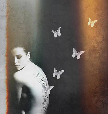 Surrealism Mixed Media - Metamorphosis by Jacky Gerritsen