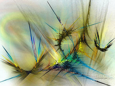 Lyrical Digital Art - Metamorphosis by Karin Kuhlmann