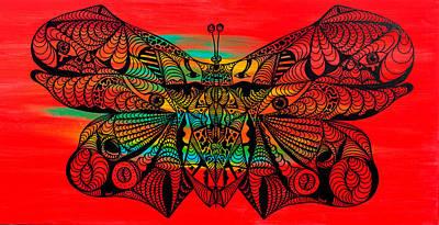 Artwork Of Butterfly Painting - Metamorphosis Of Life by Kenal Louis