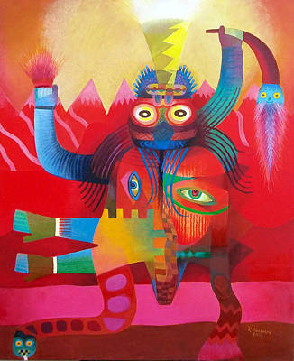 Painting - Metamorphosis Paracas by Pedro Huamani