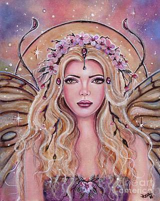 Cherry Blossoms Painting - Metamorphosis Fairy Portrait by Renee Lavoie