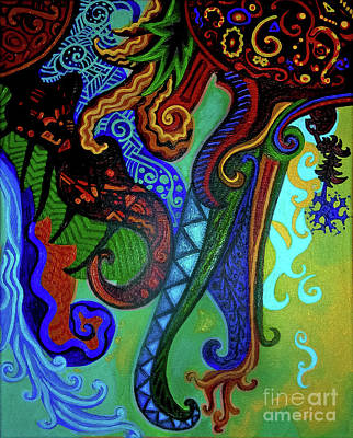 Outerspace Painting - Metaphysical Habituation by Genevieve Esson