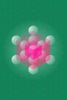 Metathron's Cube Art Print by Selim Oezkan