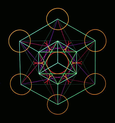 Metatron Cube Painting - Metatron by Heather Crowther