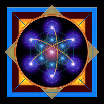 Digital Art - Metatron's Atom by Vincent Autenrieb