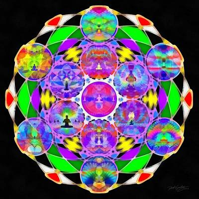 Digital Art - Metatron's Cosmic Ascension by Derek Gedney