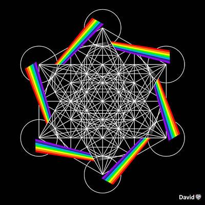 Digital Art - Metatron's Cube 5d by David Diamondheart
