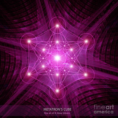 Digital Art - Metatron's Cube by Alexa Szlavics