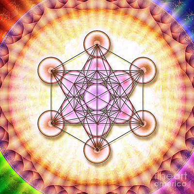 Metatron's Cube - Artwork Sun No. 2 - 1 Art Print