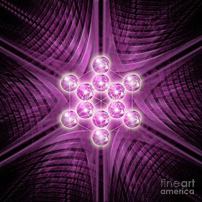 Digital Art - Metatron's Cube Atomic by Alexa Szlavics