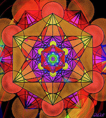 Mixed Media - Metatron's Cube - Autumn by Michele Avanti