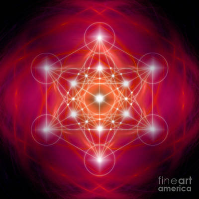 Digital Art - Metatron's Cube Female Energy by Alexa Szlavics