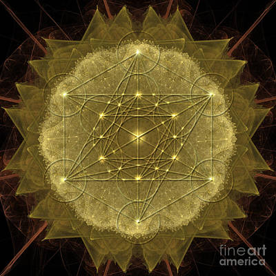 Digital Art - Metatron's Cube Geometric by Alexa Szlavics