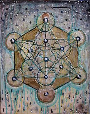 Metatron Cube Painting - Metatrons Cube by Juliana Lachance