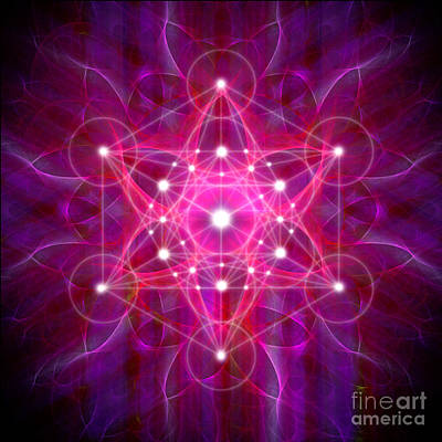 Digital Art - Metatron's Cube Reflection by Alexa Szlavics