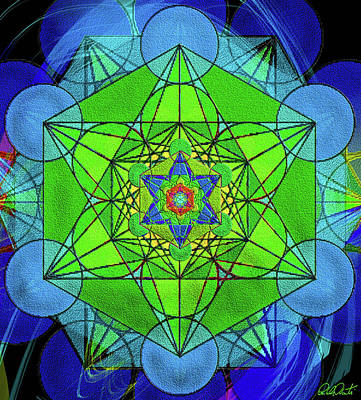Mixed Media - Metatron's Cube - Spring by Michele Avanti