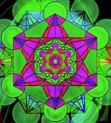 Digital Art - Metatron's Cube - Summer by Michele Avanti