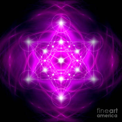 Digital Art - Metatron's Cube Vibration by Alexa Szlavics