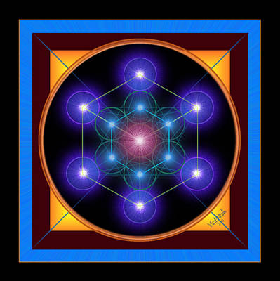 Digital Art - Metatron's Cube by Vincent Autenrieb