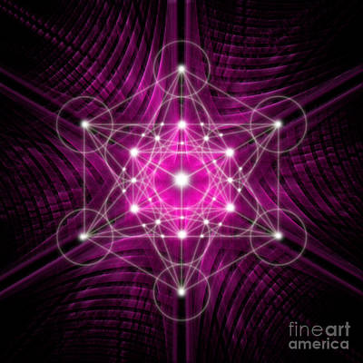 Digital Art - Metatron's Cube Waves by Alexa Szlavics