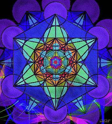 Digital Art - Metatron's Cube - Winter by Michele Avanti