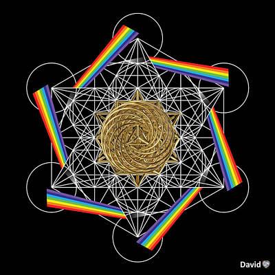 Digital Art - Metatron's Rainbow Healing Vortex by David Diamondheart