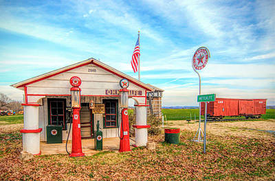 Old Caboose Mixed Media - Metcalfe Station by Marion Johnson
