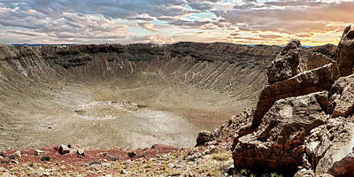 Photograph - Meteor Crater by Mike Braun