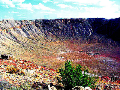 Photograph - Meteor Crater National Site - Arizona by Merton Allen