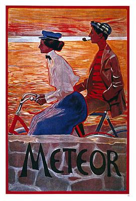 Mixed Media - Meteor Cycles - Bicycle - Vintage Advertising Poster by Studio Grafiikka