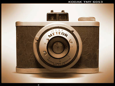 Vintage Camera Wall Art - Photograph - Meteor Film Camera by Mike McGlothlen
