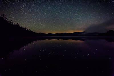 Photograph - Meteor Over Chocorua Lake by Benjamin Dahl