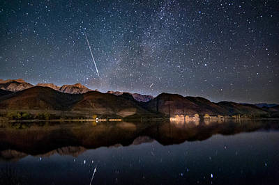 Meteor Photograph - Meteor Over Sierra Nevada by Cat Connor
