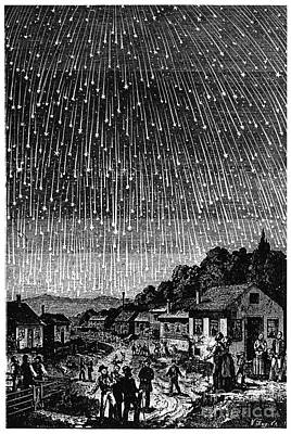 1833 Photograph - Meteor Shower, 1833 by Granger