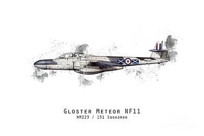 Movies Star Paintings - Meteor Sketch - WM223 by Airpower Art
