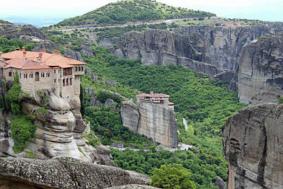 Photograph - Meteora Monastery 2 by Ellen Henneke