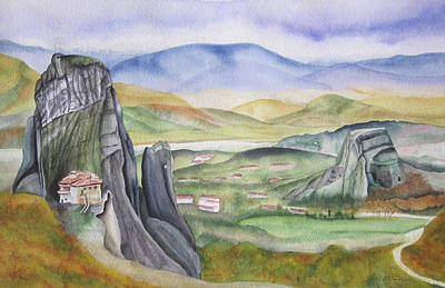 Painting - Meteora by Teresa Beyer