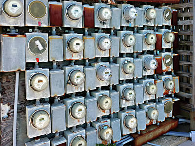 Photograph - Meters by Steve Sperry