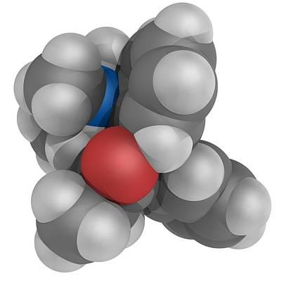 Methadone Molecule Art Print by Laguna Design
