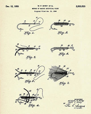 Print Making Painting - Method Of Making Artificial Flies-1950 by Pablo Romero