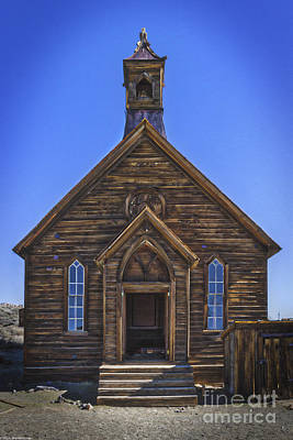Methodist Church Bodie California Art Print